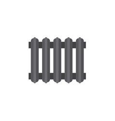 Isolated radiator flat icon heater element vector
