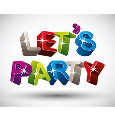 Lets party vector