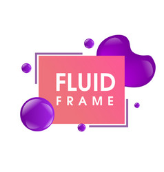 modern colorful fluid frame design vector image