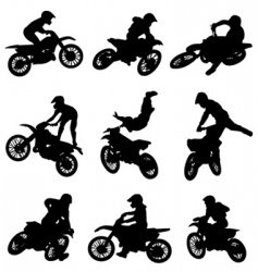 Motor cross freestyle set vector