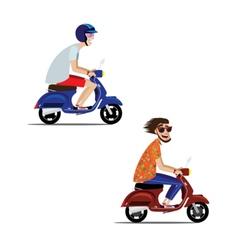 Motorcyclists set vector