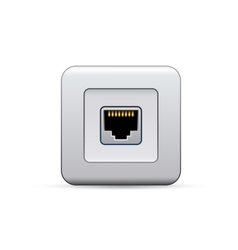 Network socket icon vector