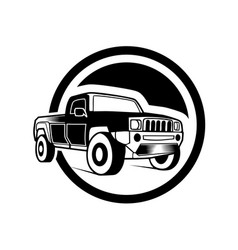off road car on white background vector image