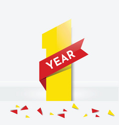 one year anniversary vector image