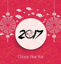 Oriental Chinese New Year 2017 background vector