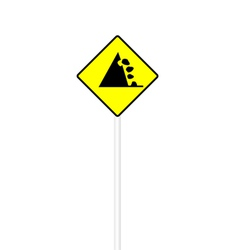 Possible falling stone sign vector image