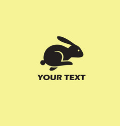 Rabbit logo template retro vector