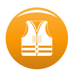 Rescue vest icon orange vector