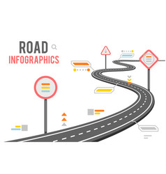 road way infographics signs design vector image