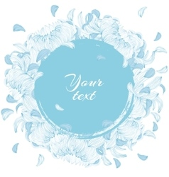 Round flowers frame vector image