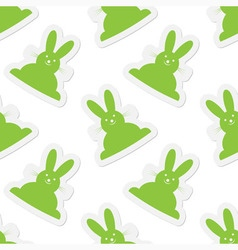 seamless - back Easter bunnies vector image