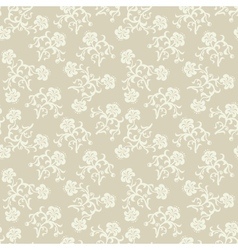 Seamless beige flowers background vector image