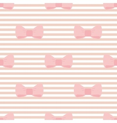 Seamless pastel pink bows decoration wallpaper vector image
