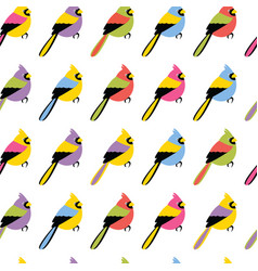 Seamless pattern with color birds vector