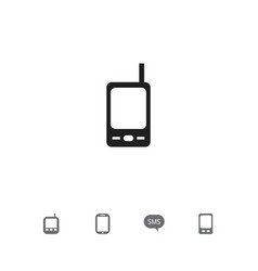 set of 5 editable device icons includes symbols vector image