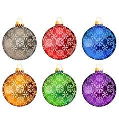 Set of Christmas tree balls vector image