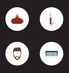Set of shop icons flat style symbols with flacon vector