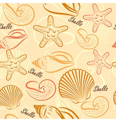 Shells seamless2 vector