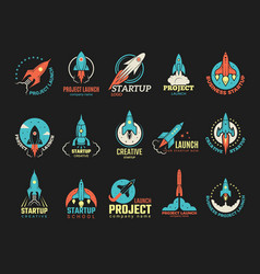 startup logo business launch perfect idea vector image