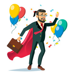 successful businessman hero business vector image
