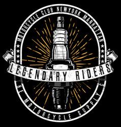 Tee vintage motorbike race hand drawing t-shirt vector