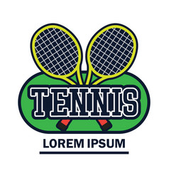Tennis court logo with text space for your slogan vector