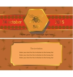 The invitation 8 vector