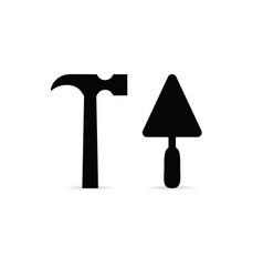 tool icon in black color vector image
