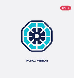 Two color pa kua mirror icon from cultures vector