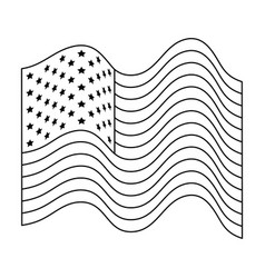 united states america flag with waves vector image