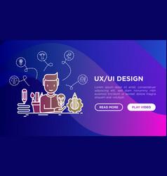 Ux ui design concept creator generates idea vector
