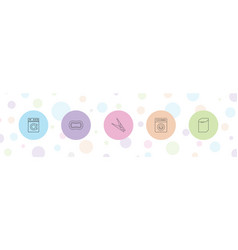 Washing icons vector