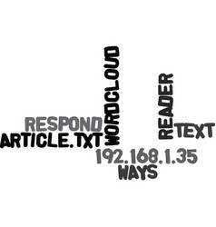 Ways a reader can respond to your article text vector