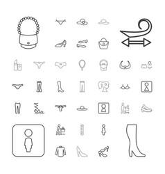 Women icons vector