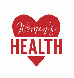 womens health logo isolated on white background vector image