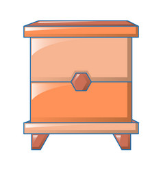 wood bedside table icon cartoon style vector image