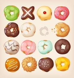 Doughnuts in a box vector image vector image