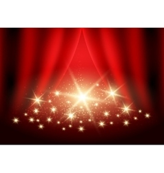 Festive Red background vector image