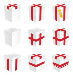 gift box in white color vector image