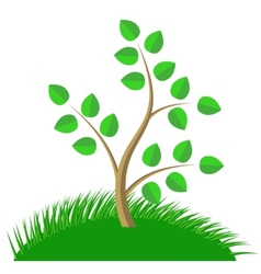 Green Cartoon Tree vector image