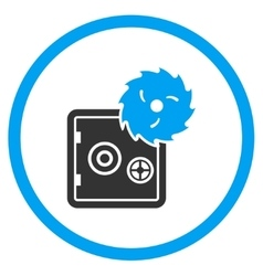 Hacking Theft Rounded Icon vector image vector image