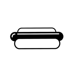 Hot dog outline icon vector image vector image