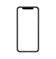 smartphone with blank white screen isolated on vector image vector image