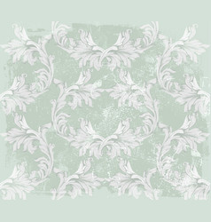 baroque pattern on an old fabric background vector image vector image