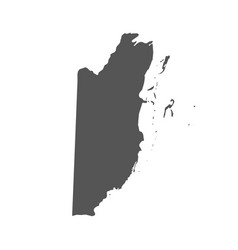 belize map black icon on white background vector image