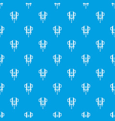 boer drill pattern seamless blue vector image