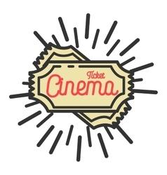 Color vintage cinema emblem vector image vector image