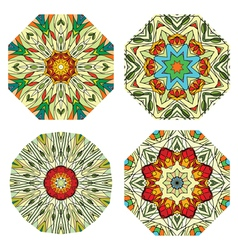colorful ethnicity round ornament vector image vector image