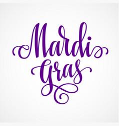 mardi gras lettering vector image vector image