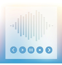 Media player buttons and equalizer vector image vector image